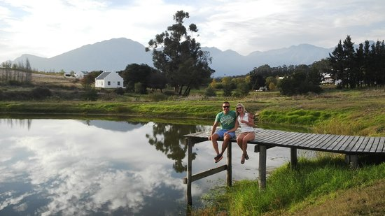 Manley Wine Lodge : Guests at our dam