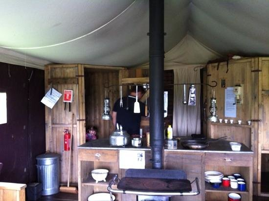 Feather Down Farms at Sunninglye Farm: inside the tent was everything you need.