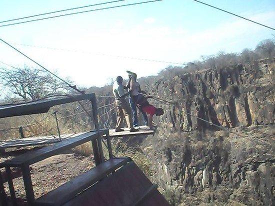 Wild Horizons Gorge Swing, Highwire & Adventure Slides: Just jumped