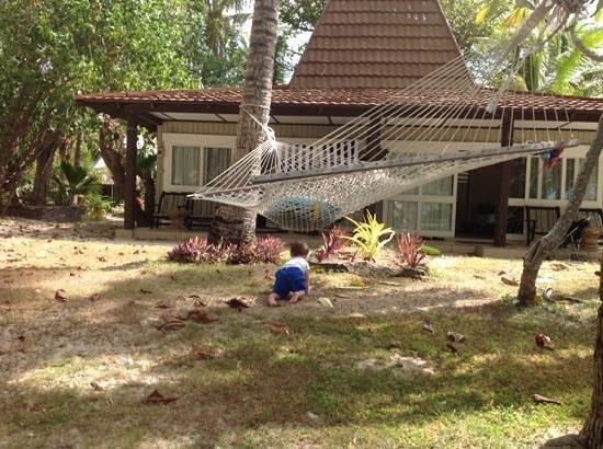 Treasure Island Resort: Great hammock, comfortable bure.