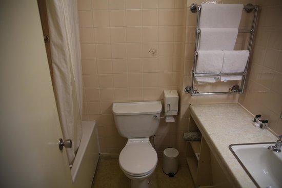 Alexandra Hotel: Salle de bain, l important est la