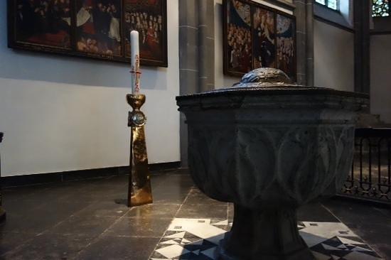 St. Lambertus Church: baptismal font