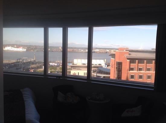 Mercure Liverpool Atlantic Tower Hotel : excellent view from our executive room