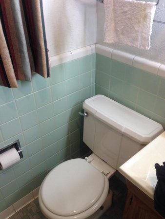 Best Budget Inn: Cute original tilework and fixture in the bathroom add historic character.  The toilet was dated