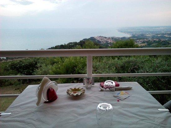 Bar Belvedere : Il tavolo...e il panorama