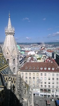 Stephansdom: view from the roof