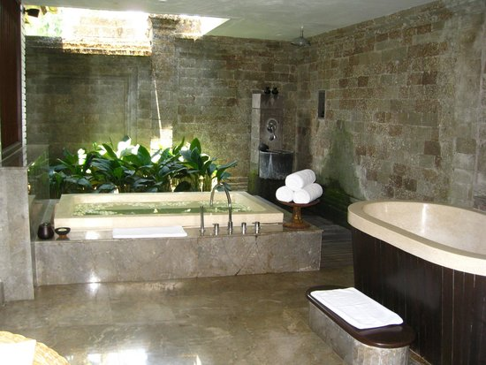The Chedi Club Tanah Gajah, Ubud, Bali – a GHM hotel: Part of the villa bathroom