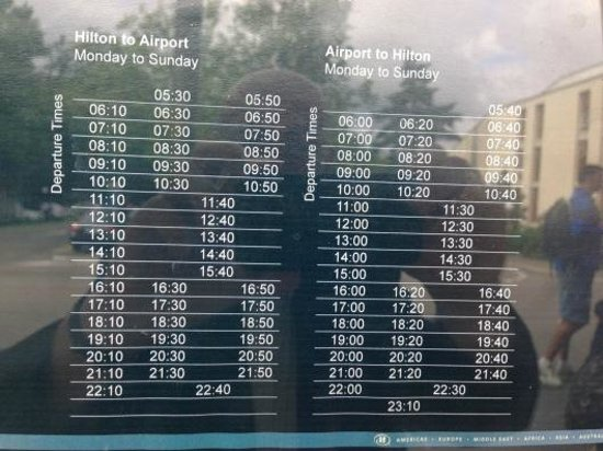 Hilton Zürich Airport: Bus Timetable