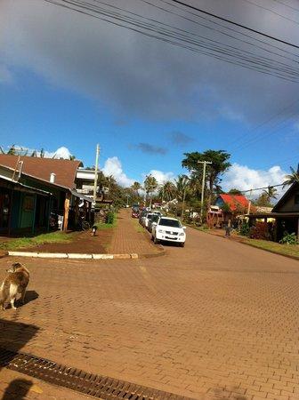 Cabanas Tautira : main road
