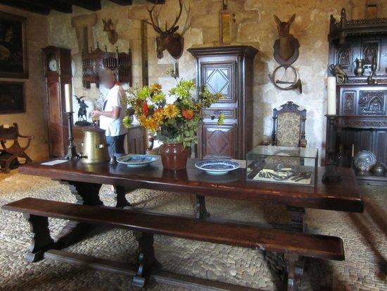 The Maison Forte de Reignac: The large dining room