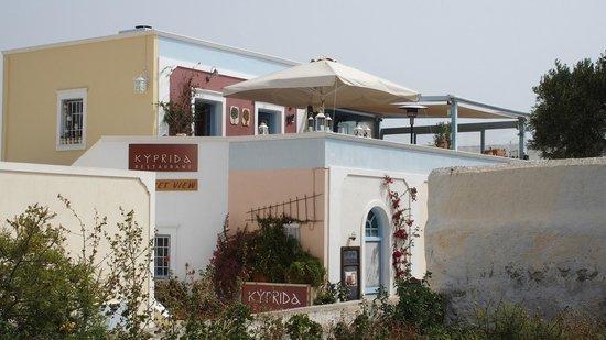 Kyprida Restaurant: Vue exterieur
