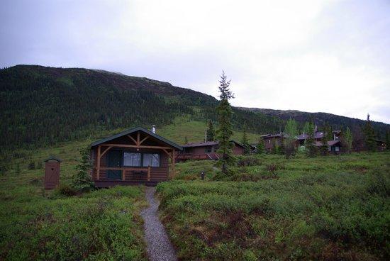 Camp Denali: Cabin, Bathhouse & Part of Dining/Main Lodge