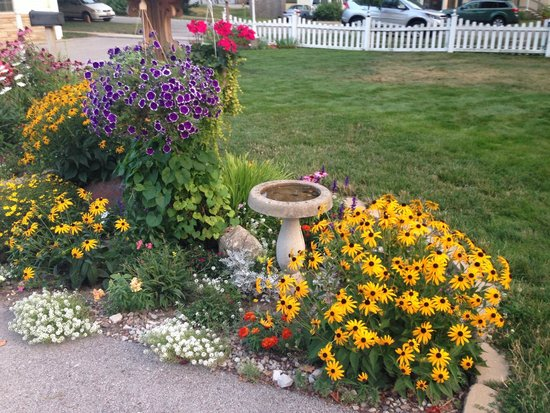 The Maple Tree Inn: Flowers outside of rooms