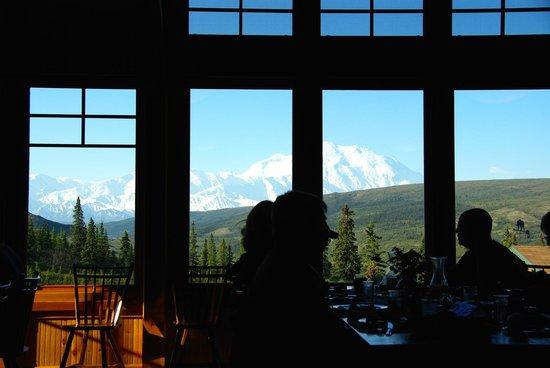 Camp Denali: View of Denali from Dining Room