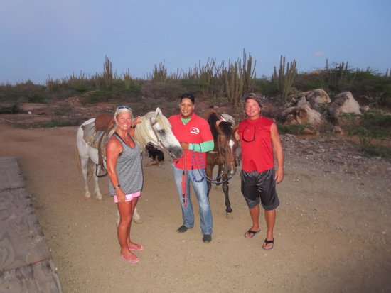 El Paseo Ranch Aruba: The end of the day ride.  Wonderful!