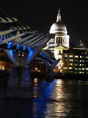 St. Pauls Cathedral & Millennium Bridge by Night