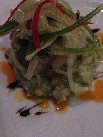 Mahaweli Reach Hotel: Fish with pesto risotto