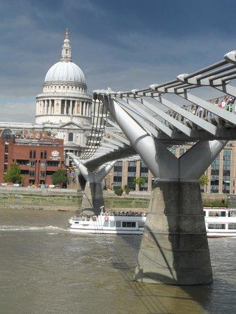 St. Pauls & Millennium Bridge in Daylight