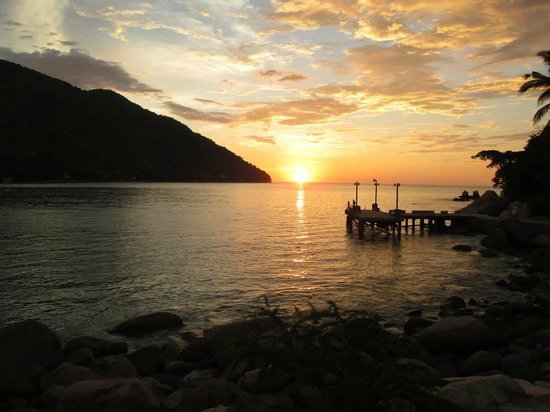 Hotel Lagunita: Sunset view from MY cabaña!