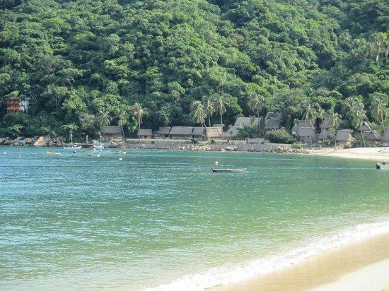 View of Hotel Lagunita from the beach