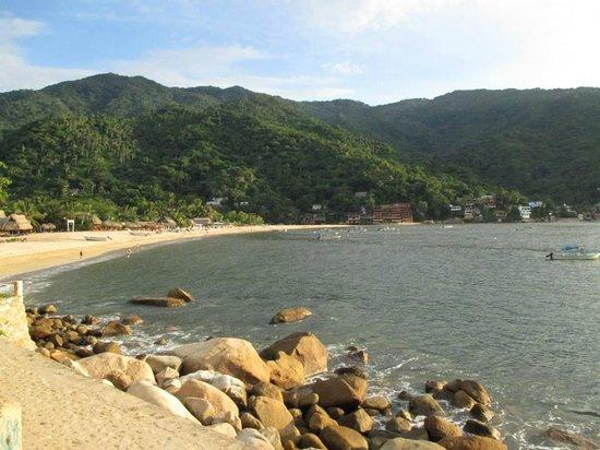 View of the beach from Hotel Lagunita