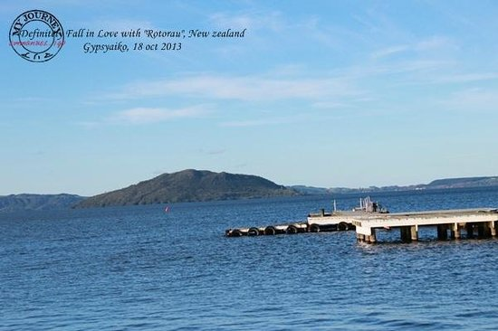 Lake Rotorua: nice weather, scenery