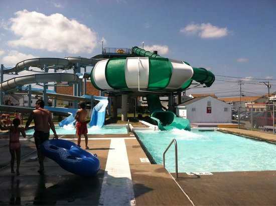 Hampton, NH: There are 3 water slides.