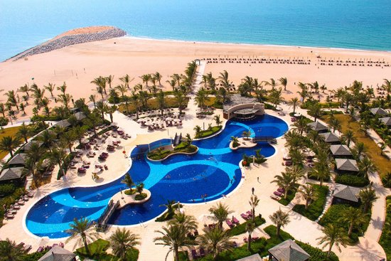 Waldorf Astoria Ras Al Khaimah : view from room over main pool