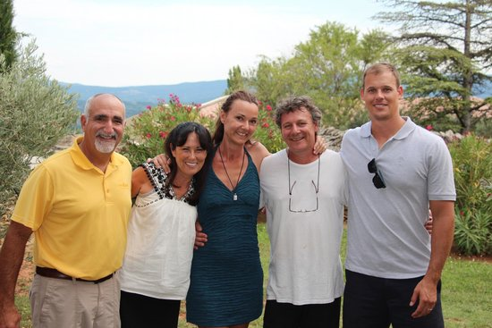 Le Clos de Gustave : Us with Jean and Marianne