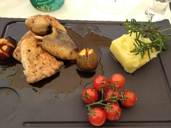 Le Clos de Gustave: Fowl and Olive Oil Mashed Potatoes we cooked