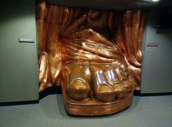 Statue de la liberté : Foot of Statue of Liberty