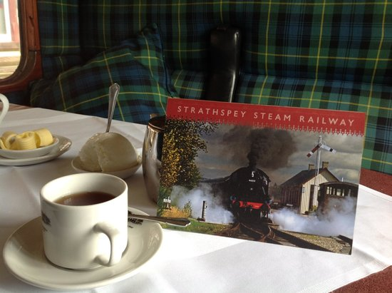Strathspey Steam Railway: First class compartment with tea service is a relaxing journey