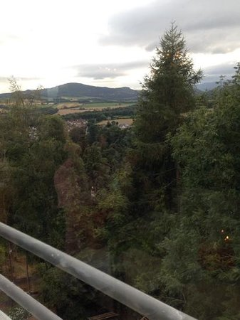 Knock Castle Hotel & Spa: views from rooftop restaurant