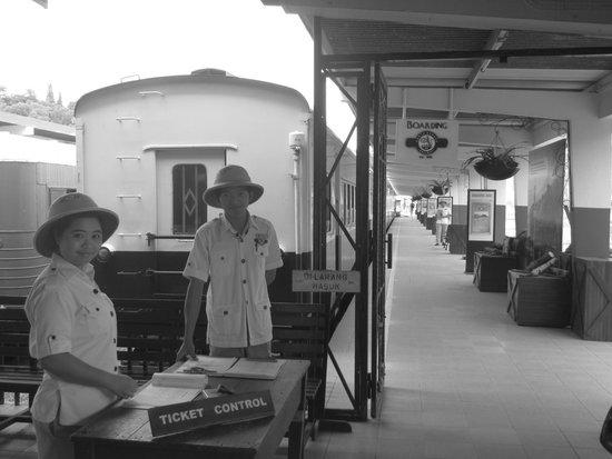 North Borneo Railway: Train staff checking tickets