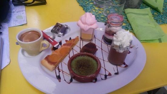 Le Pré Vert : café gourmand