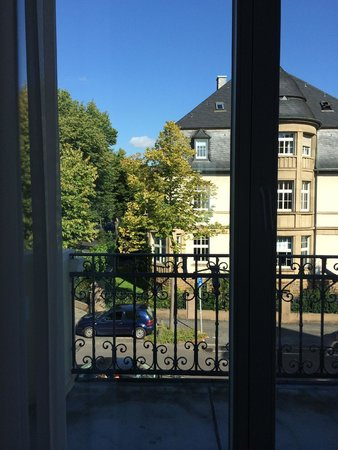 Villa Godesberg: View from our room onto Mirbachstrasse