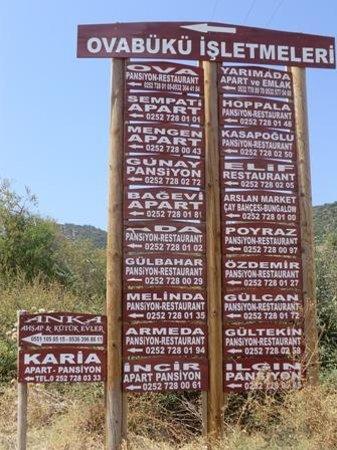 Karia Apart Pansiyon: Indicazioni degli hotel.