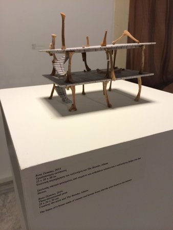 """National Museum of Contemporary Art: Cool modern art like this one made """"of human bones the artist found on the internet"""""""