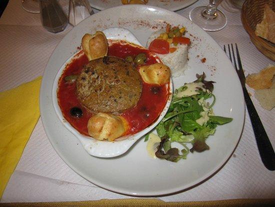 Les Ventres Jaunes : Uno de los platos