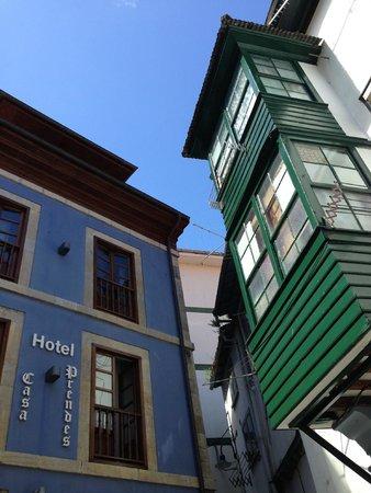 Hotel Casa Prendes : la facciata d'ingresso