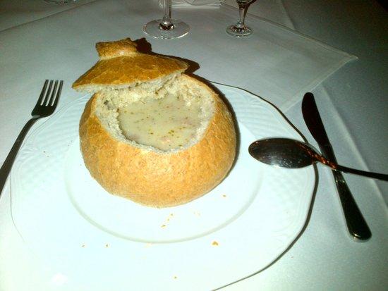Faltom Hotel & Spa: Rumia, Restaurant of Hotel Faltom - Zurek soup a traditional Polish soup