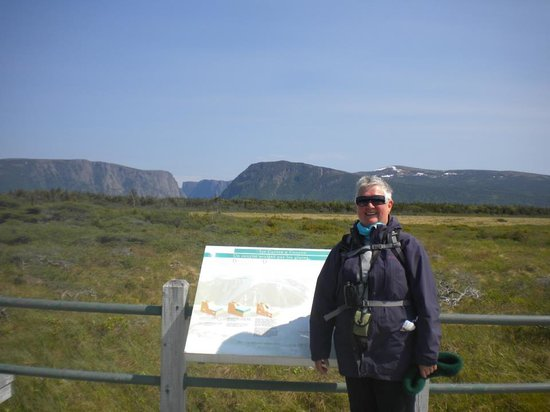 Gros Morne National Park: that gap, 3 Km, in the distance is the start of Western Brook Pond and the boat trip to the base