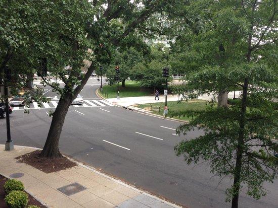 One Washington Circle Hotel: View from 215 Balcony