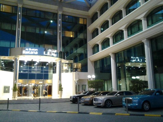 Roda Al Bustan: outside of the structure and this is what you see coming in the evening