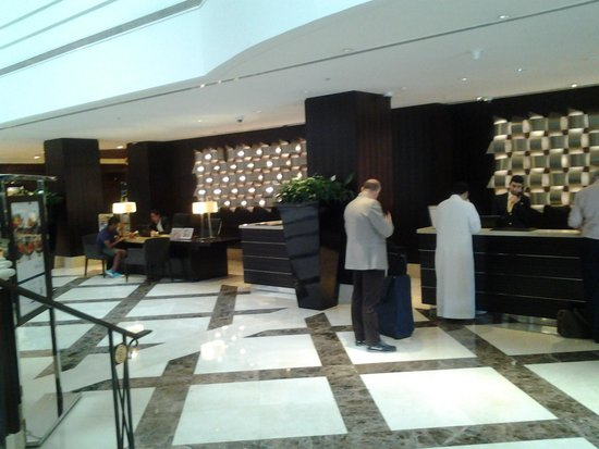Roda Al Bustan: this is the reception entrance where employees and the concierge are very helpful