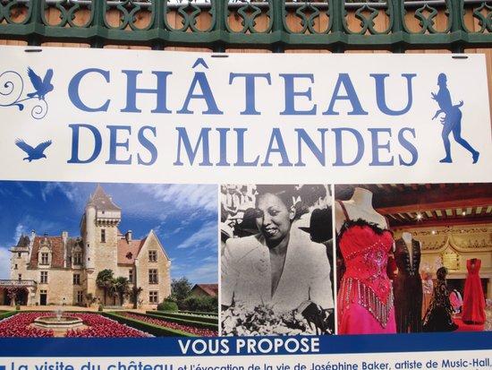 Chateau des Milandes: Sign