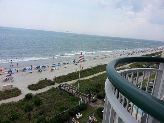 Hampton Inn & Suites Myrtle Beach/Oceanfront: View from balcony. We were on 7th floor