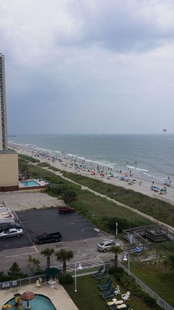 Hampton Inn & Suites Myrtle Beach/Oceanfront: Another view from suite balcony