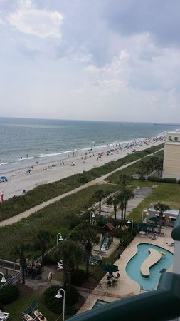 Hampton Inn & Suites Myrtle Beach/Oceanfront: One more view from our suite balcony