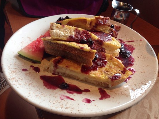 The Bread Company: Stuffed French toast